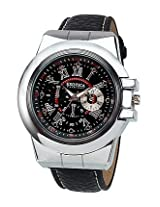 Exotica Fashions Black Leather Analog Men Watch EFG 07 B LB