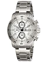 Invicta Men's Quartz Watch with Silver Dial Chronograph Display and Silver Stainless Steel Bracelet 21570