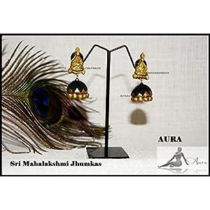 AUrA-EArTH Mahalakshmi Jhumkas