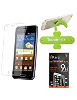 iKare Pack of 11 Tempered Glass for HTC Desire 816 + Touch U Mobile Stand