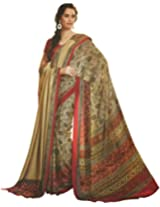 Faux Georgette Saree in White Colour for Casual Wear
