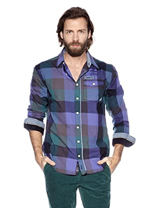 NZA New Zealand Auckland Camisa Manga Larga Metone (Violeta / Azul Verdoso)