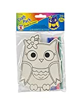 Darice Wood Kit with Markers Owl