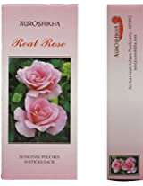 Auroshikha Real Rose Box Incense Sticks (200 gms, Brown) - Pack of 20