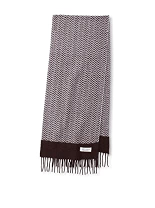 Joseph Abboud Men's Zigzag Scarf (Heather Brown)