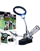 Trademark Tools Helping Hand Magnifier w/ 2 LEDs by Trademark