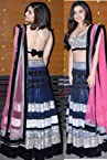bollywood lehenga alia bhatt navy blue hig quality