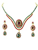 14Fashions Green Copper Necklace Set For Women_1101331
