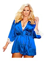 Gojilove Women's Polyester Blue Plus Size Kimono