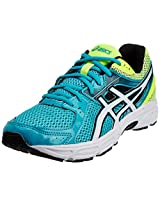 ASICS Men's Contend 2 Flash Blue, White and Flash Yellow Mesh Running Shoes - 11 UK