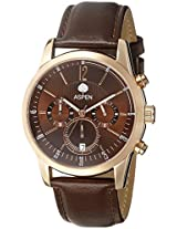 Aspen Analog Brown Dial Men's Watch - AM0071