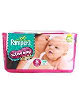 Pampers Active Baby Diapers Value Pack Small - 46Pcs (3 - 8 Kgs)