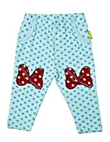 Infant Girls Leggings With Print, Light Blue, 9-12 Months
