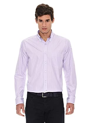 Turrau Camisa Raya Fina (Lila / Azul)