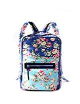 flowercious backpack with laptop sleeve 14 inches (3 color options) (blue)