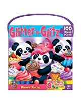 MasterPieces Glitter and Glitz Panda Party Jigsaw Puzzle, 100-Piece
