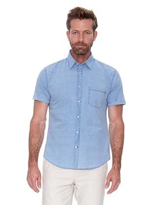 Cortefiel Camisa Liso (Azul Medio)