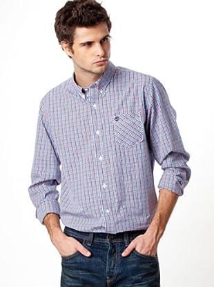 Timberland Camisa Cuadros (Blanco / Rojo / Azul Marino)