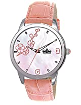 Elite Analog Mother of Pearl Dial Women's Watch - E52982/005