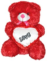 Rushi Enterprise 2 Feet Big With Love Heart Stuffed Soft Plush Toy Kids Birthday Teddy Bear (Red)
