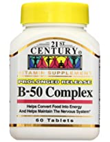 21st Century B-50 Complex Prolonged Release Tablets - 60 Count