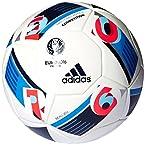 adidas Euro 16 Competition Football, Men's Size 5 (White)