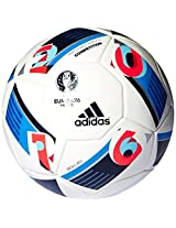 adidas Euro 16 Competition Football, Men's Size 5 (White)