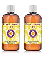Pure Linseed Oil - Pack of Two (100ml + 100ml) Linum usitatissimum 100% Natural Cold pressed
