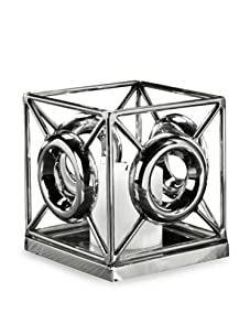 Tribeca 'O' Candle Holder (Silver)