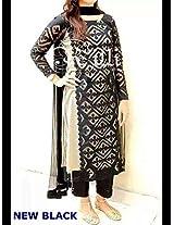 Shree Fashion Woman's Cotton With Dupatta [Shree (26)_Black]