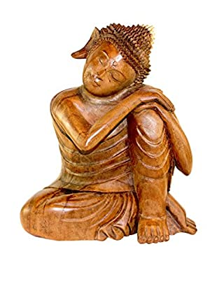 Asian Loft Carved Suar Wood Buddha