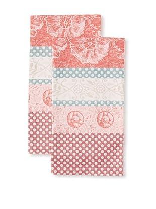 Garnier-Thiebaut Set of 2 Stuc Kitchen Towels, Figue