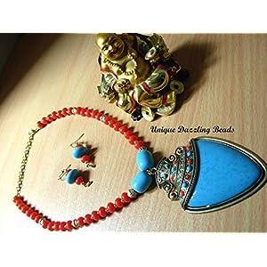 Unique Dazzling Beads Fantastic Red-Blue