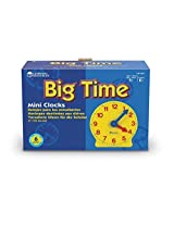 Learning Resources Gear Clock, 4 Inch (Set/6) Model: Ler2202, Toys & Games For Kids & Child