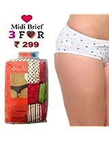 Seasons Hushh Pack Of 3 Women Brief Panties B110B1103LT_Multi