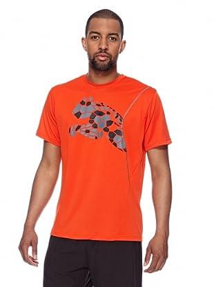 Puma Trainings T-Shirt CT Graphic Cat (miami red-quiet shade)