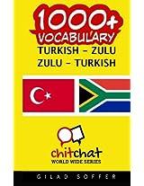 1000+ Turkish-zulu Zulu-turkish Vocabulary