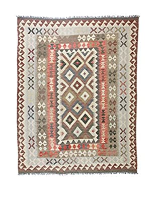 Eden Teppich Kilim-P grau/mehrfarbig 167 x 215 cm