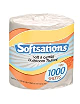 Nicole Home Collection Softsations 1-Ply Toilet Tissue, 1000 Sheets