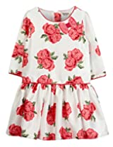 Rose Print Dress Off-White print 5Y