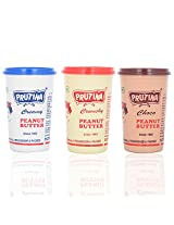 Prutina Peanut Butter (Creamy, Crunchy, & Choco) Pack of 3 - 1200 gm