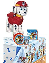 Paw Patrol Party Kit Including Plates, Cups, Napkins, Tablecover And Pinata 8 Guests