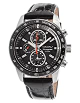 Seiko Chronograph Black Dial Men's Watch - SNAE35P1