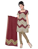 Kala Sanskruti Women's Cotton Silk Blend Multicolor Dress Material