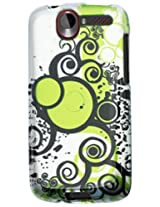 HTC 2D Protector Cover for HTC G7 111 - Retail Packaging - White/Light Green