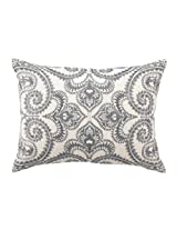 D.L Rhein Down-Filled Pillow, Amalfi, Slate, 14 by 20-Inch