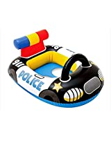 Intex Kiddie Inflatable Swim Pool Water Float Ring Cruiser Police Car Shape - For Ages 1+ Years Old Baby Toddlers
