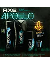 Axe Apollo 4-Piece Gift Box (4 oz. Body Spray, 16 oz Shower Gel, 12 ounce 2-in-1 Shampoo + Conditioner, + Bonus 0.74 oz. Chilled Cooling Face Wash)