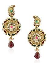 Royal Bling Ethnic 18 k yellow golden plating Cerise Paisley Circlet Golden Earring for women
