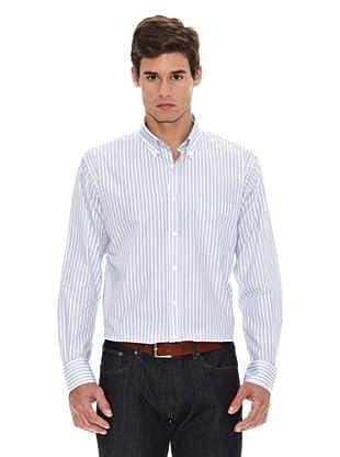 Turrau Camisa Raya Ancha Bicolor (Azul)